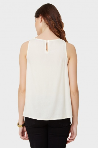 GINGER Embroidered Sleeveless Top