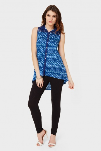 BIBA Printed Button-Up Tunic