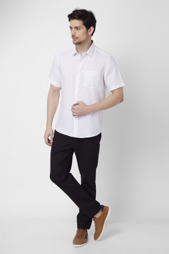 INDIAN TERRAIN Slim Fit Linen Shirt