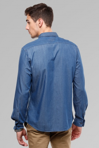 INDIAN TERRAIN Slim Fit Denim Shirt