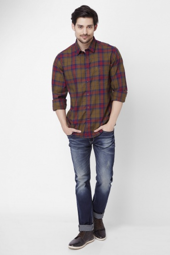INDIAN TERRAIN Checked Full Sleeves Shirt