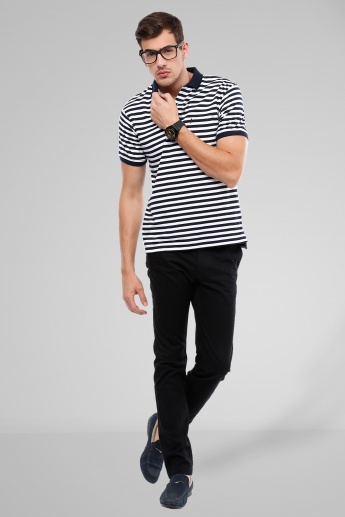 INDIAN TERRAIN Striped Polo T-Shirt