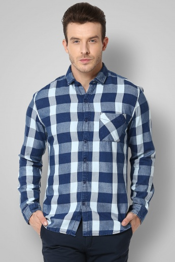 FORCA Checks Print Full Sleeves Shirt