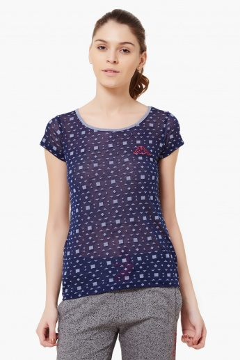 KAPPA Printed Round Neck Top