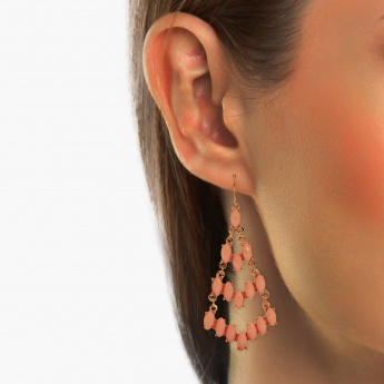 TONIQ Chic Pink Pastel Drop Earrings