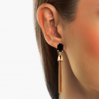 TONIQ Golden Jellyfish Drop Earrings