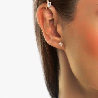 GINGER Ear Stud & Ear Cuff Set