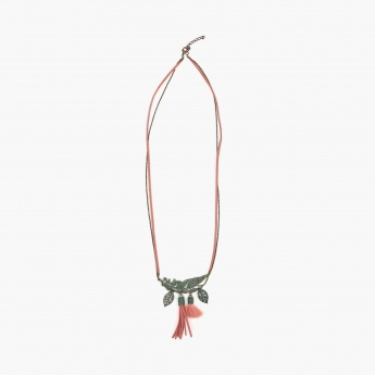 GINGER Feathers & Tassels Necklace