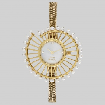 TITAN 9970YM01J Raga Analog Gold Watch
