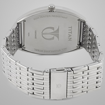TITAN 1680SM02 Silver Dual Time Watch