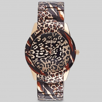 GUESS W0425L3 Women Animal Printed Analog Watch