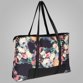 GINGER Floral Printed Tote Bag