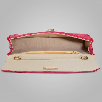 PAPRIKA Croc Embossed Sling Bag