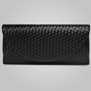 PAPRIKA Textured Weave Clutch