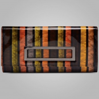 PAPRIKA Striped Structured Wallet