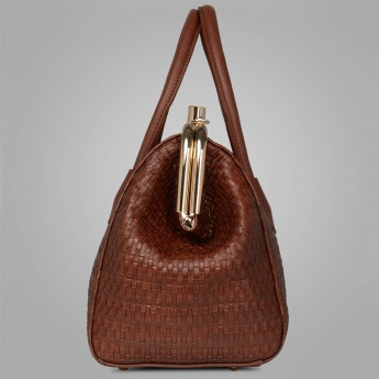CODE Weave Patterned Handbag