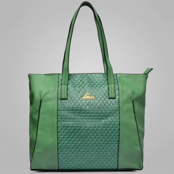 LAVIE Centre Patterned Tote Bag