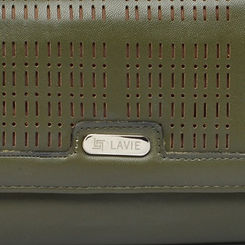 LAVIE Solid Cutout Intricate Wallet