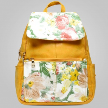 GINGER Floral Printed Spacious Backpack
