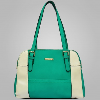 DAVID JONES Colour Block Structured Shoulder Bag