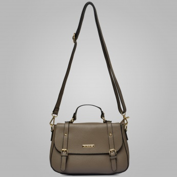 DAVID JONES Solid Handbag