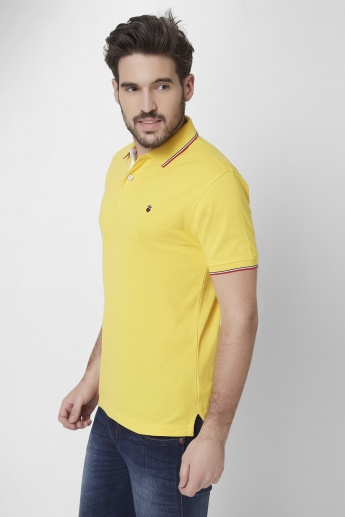 LP Polo Neck Solid T-Shirt