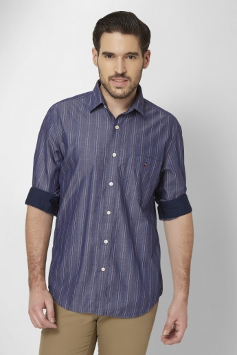 LP Striped Roll-Up Sleeves Shirt