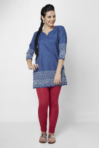 MELANGE Embroidered 3/4th Sleeves Kurta
