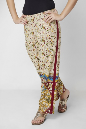 MELANGE Printed  Straight Cut Pants