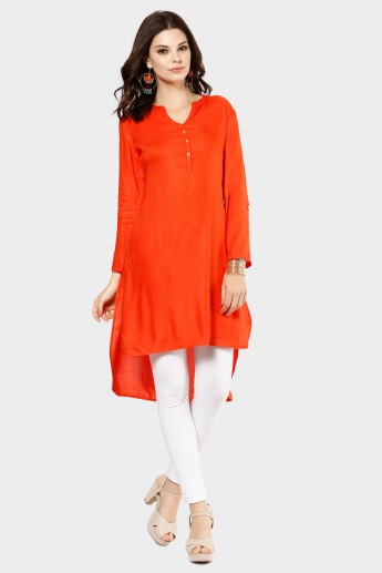MELANGE Solid High Low Kurti