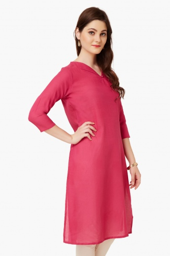 MELANGE Solid Straight Fit Kurta