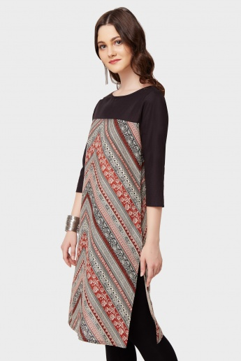 MELANGE Printed 3/4th Sleeves Kurta