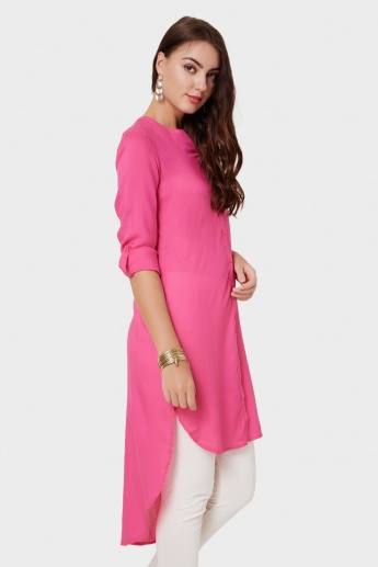 MELANGE High-Low Hem Shirt Kurta