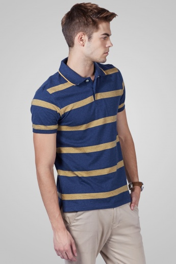 CODE Half Sleeves Polo Neck T-Shirt