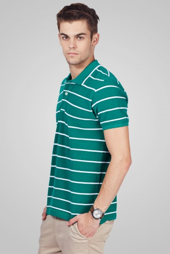 CODE Half Sleeves Casual Polo Neck T-Shirt