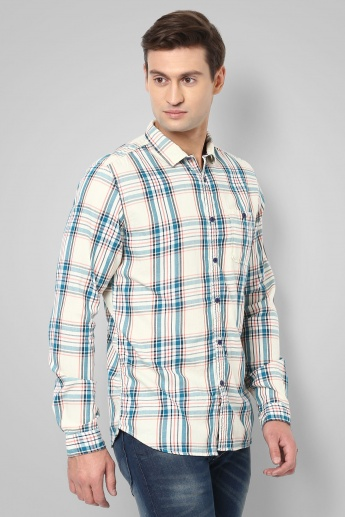 BOSSINI Checked Full Sleeves Shirt
