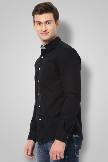 CODE Solid Spread Collar Shirt