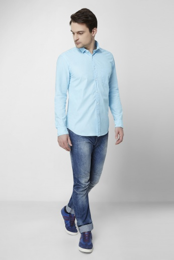 CODE Solid Chest Pocket Shirt