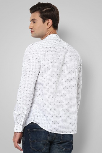 CODE Printed Band Collar Shirt