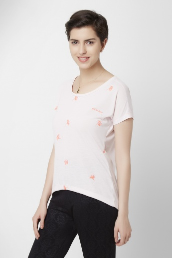 STRINGS Floral Printed Round Neck Top