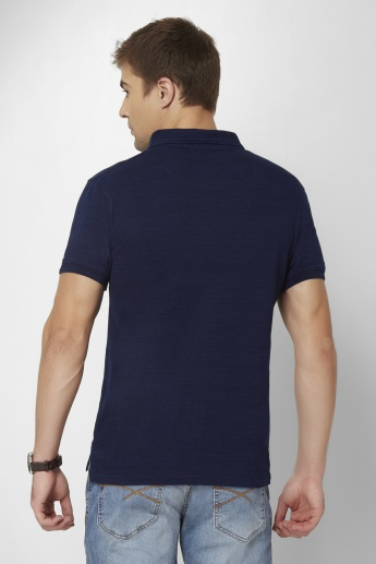 FAME FOREVER Solid Polo Neck T-Shirt