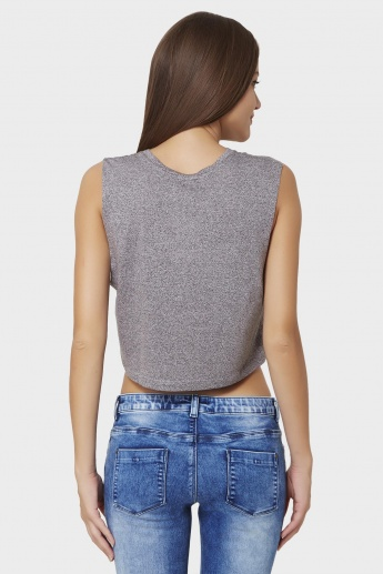 GINGER Sleeveless Crop Top