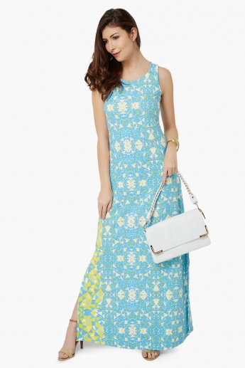 AND Printed Sleeveless Maxi Dress