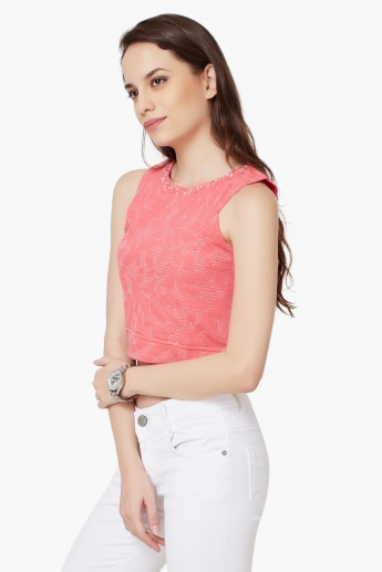 AND Textured Crop Top