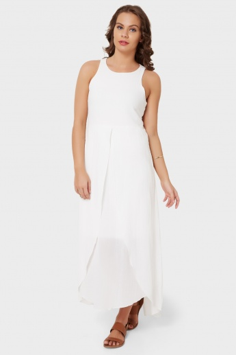 AND Curved Hem Layered Maxi Dress