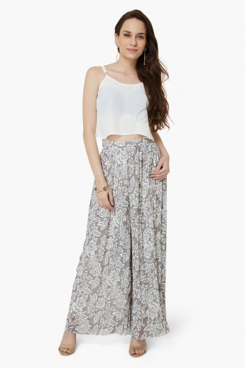 AND Printed Palazzo Pants
