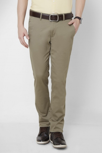CODE Solid Straight Cut Pants