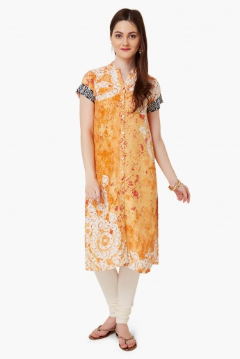 BIBA Printed Button Up Kurta