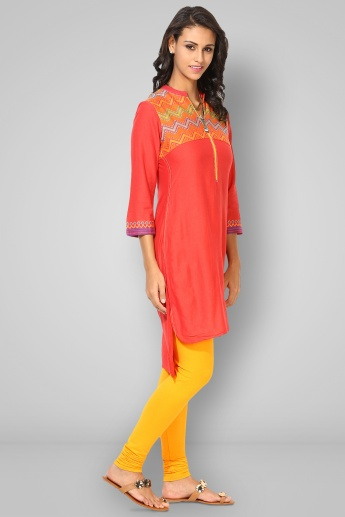 BIBA Band Collar 3/4th Sleeves Kurta