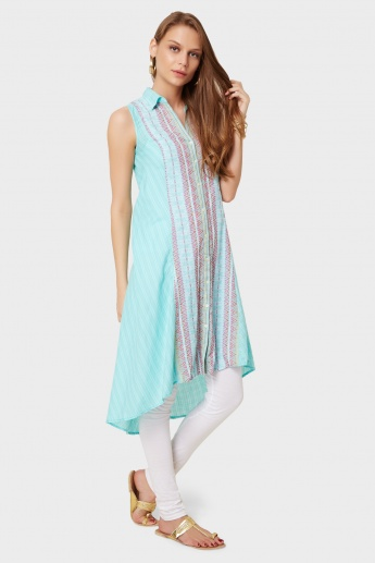 BIBA Button Up Asymmetrical Kurti